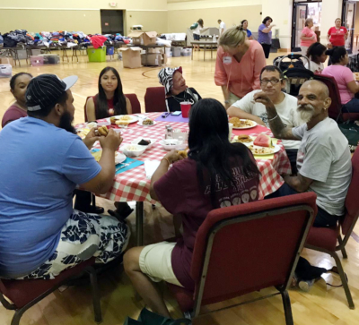 Emily's Meals now hosts their community picnics at First United Methodist Church McAllen. During these picnics, their homeless friends have the opportunity to shower, collect toiletries, choose some new clothes and have a nice homecooked meal. (Courtesy)