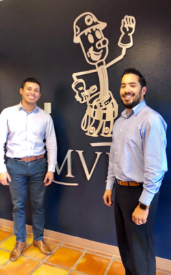 Magic Valley Communications Manager Luis Reyes and Business & Employment Development Division Manager Abraham Quiroga oversee MVEC's community involvement efforts.