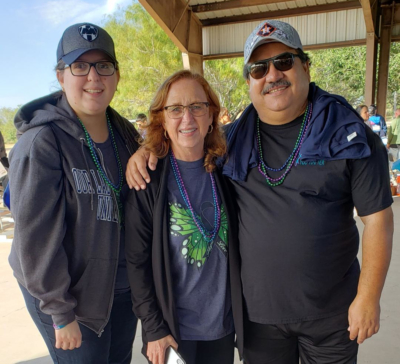 Nancy Salinas, Karen Valdez and Tony Aguirre share a time of togetherness and love before the 2019 Rio Grande Valley Walk.