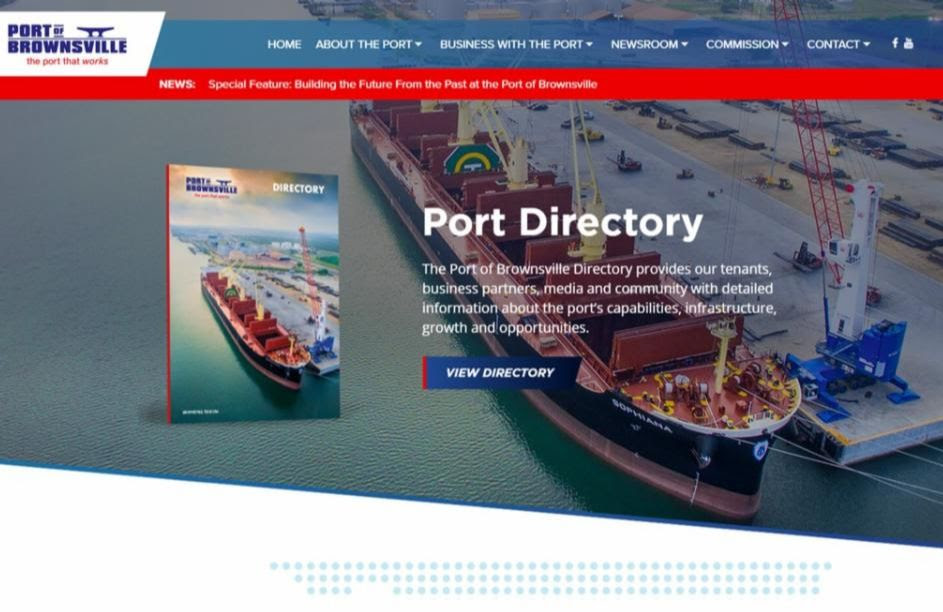 Port of Brownsville website earns Gold dotCOMM award