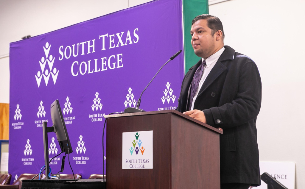 Jose Espinosa Alvarez, an instructor at Universidad Autonoma de Tamaulipas, speaks at STC's 7th annual INNO Conference Nov. 1.