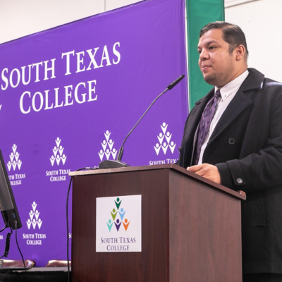 Jose Espinosa Alvarez, an instructor at Universidad Autonoma de Tamaulipas, speaks at STC's 7th annual INNO Conference Nov. 1.