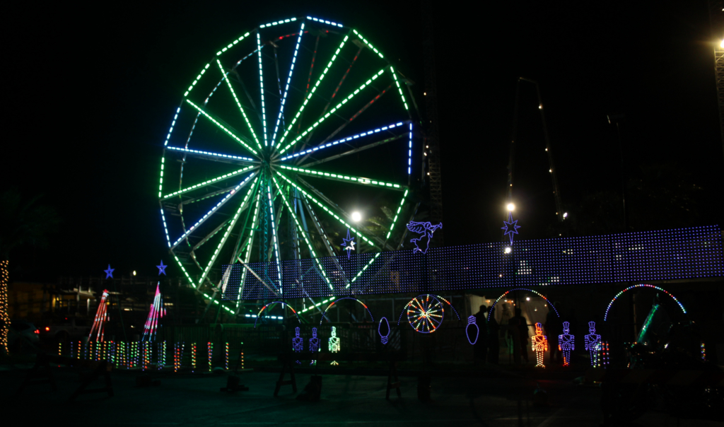 A Ferris wheel is now one of the Island's newest attractions and it's there to stay.