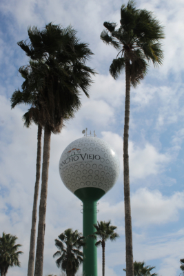 The iconic golf ball tells visitors what the club has been all about.