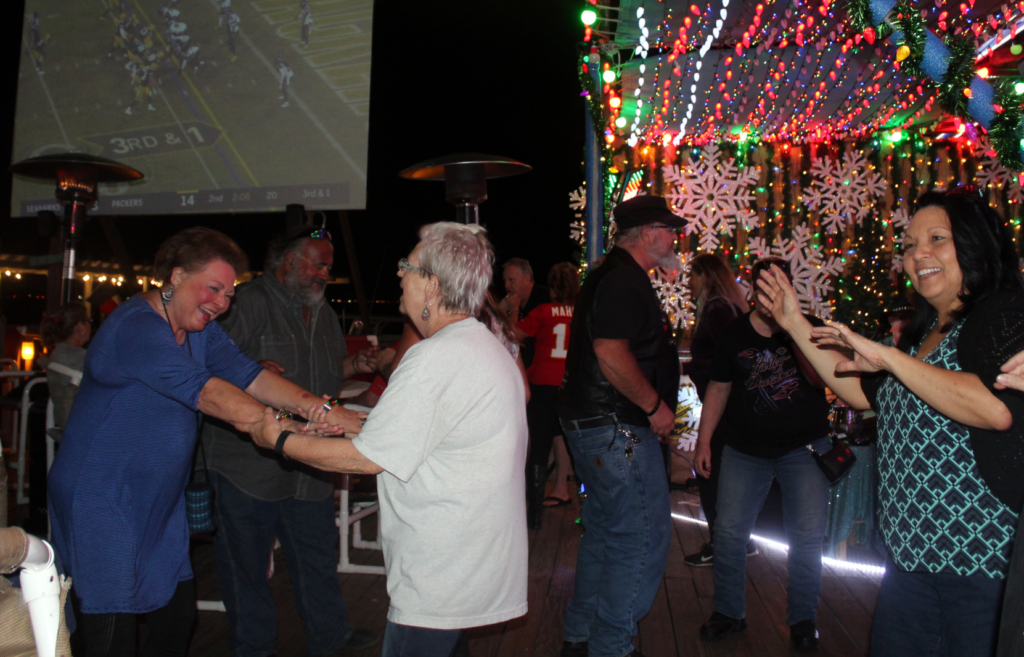 Party goers dance the night away at Laguna BOB.
