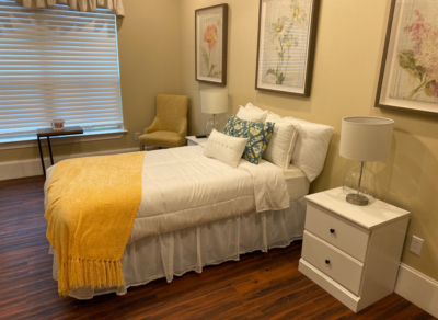 This model room shows the homey details that are a part of every room at Avalon Memory Care. (VBR)