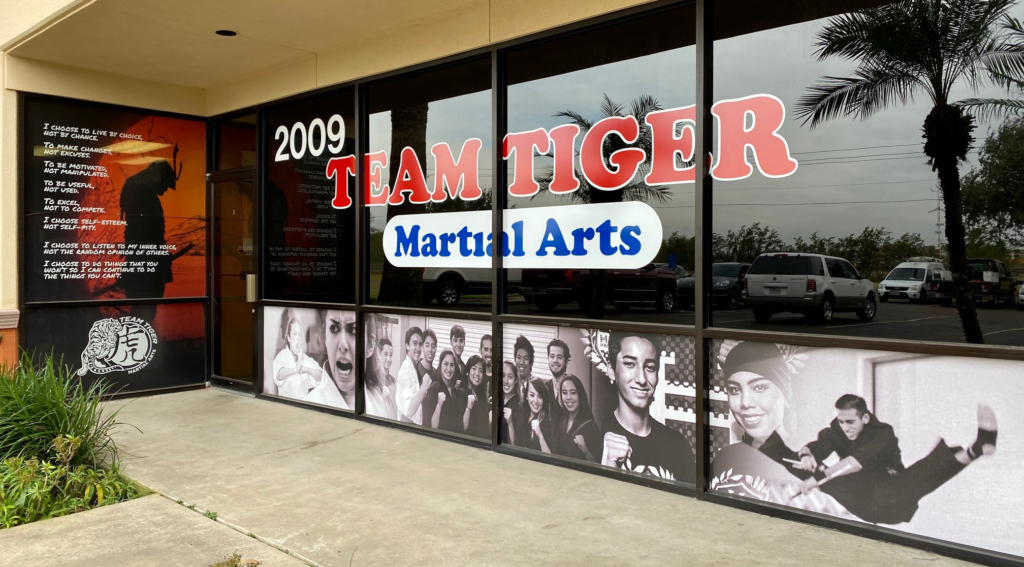 Team Tiger Martial Arts on Industrial Drive off of 23rd Street in McAllen.
