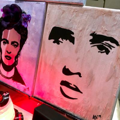 Ali Art paintings at Harlingen Art Night