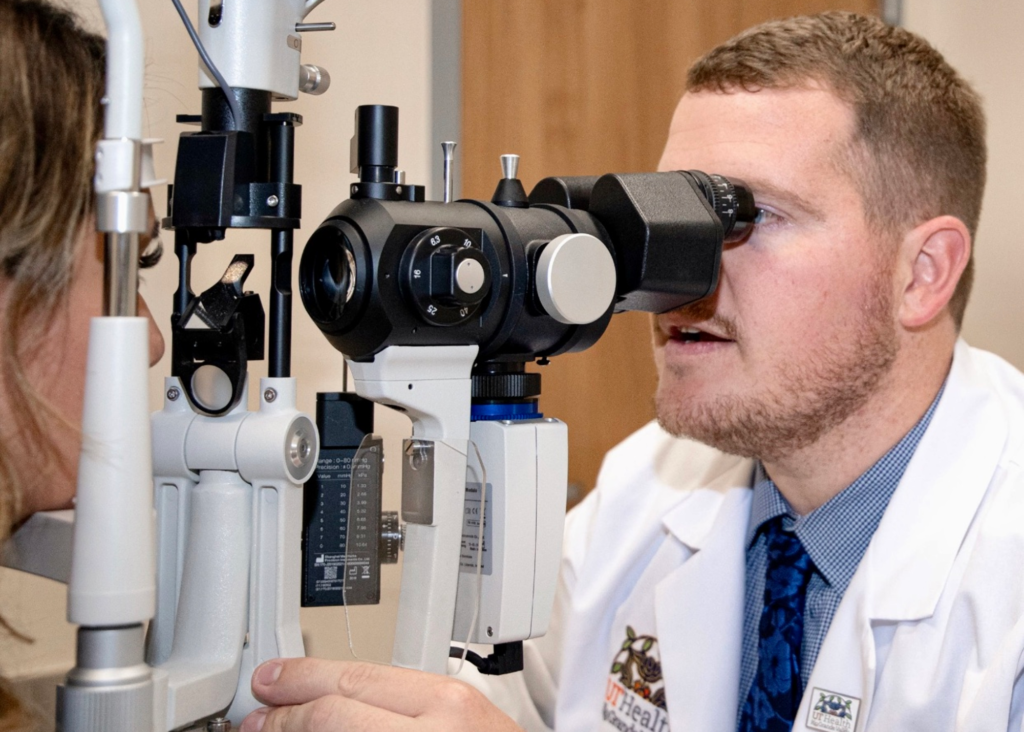 Dr. Sawyer Lambert, an optometrist at the UT Health RGV Vision Center, provides one of the many different types of medical services offered at clinics in the Valley. (Photo provided by UT Health RGV).