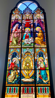 A window from the new church in Citrus City.