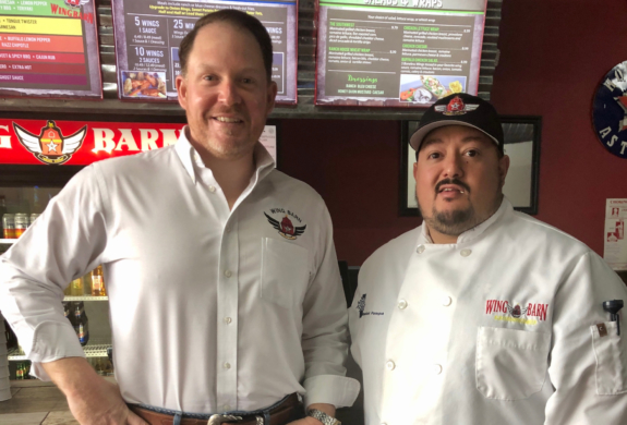 Bobby Saenz and Daniel Pompa are the owners of the fast-growing Wing Barn restaurants in the Valley.