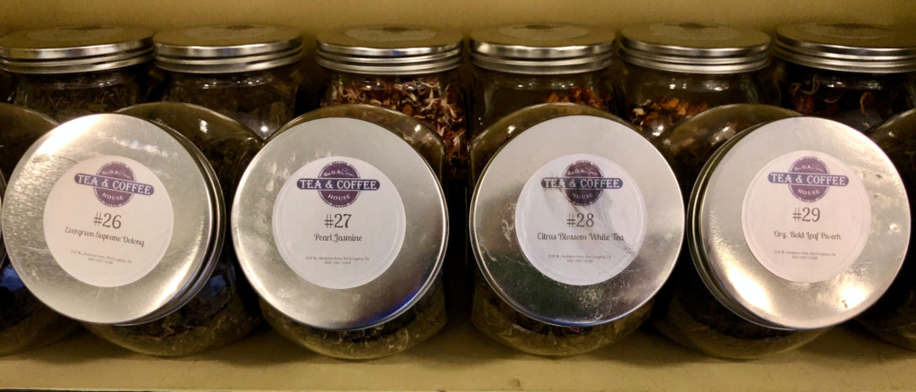 Girls Of All Trades offers a wide variety of tea flavors and mixes.