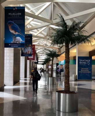 McAllen International Airport, under Elizabeth Suarez's leadership, has 48 percent of the air travel market share in the Valley.