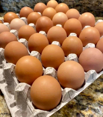 Eggs became a popular commodity at Rancho Viejo Farmers Market with shelter-in-place orders in effect. (Courtesy)