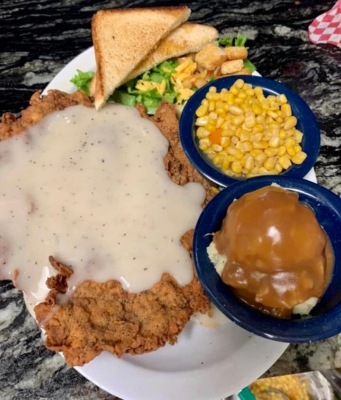Chicken fried steak is a Ranch House favorite. (Courtesy)