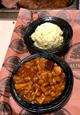 Beans and potatoes sides at The Smoking Oak.