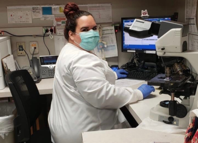 A medical worker at Rio Grande Regional works a busy shift. (Courtesy)
