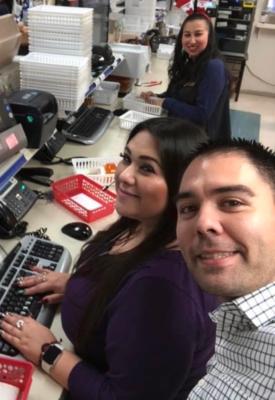 Pharmacist Thomas Garza, right, and his staff at Medicine Shoppe Pharmacy. (Courtesy)