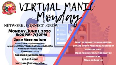 Virtual Manic Monday Mixer