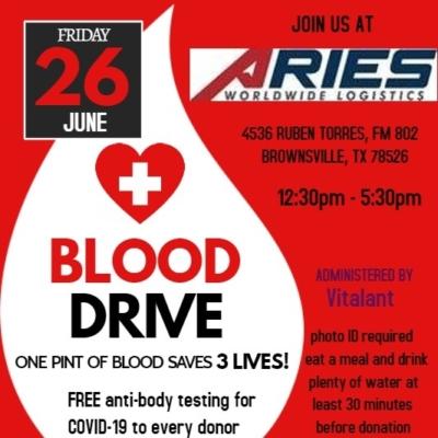 Aries blood drive