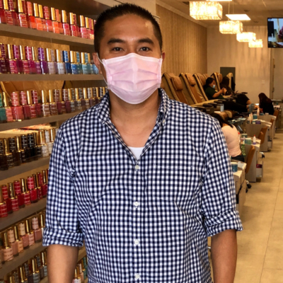 Dien Nguyen says business is returning to his nail salon in San Juan. (VBR)
