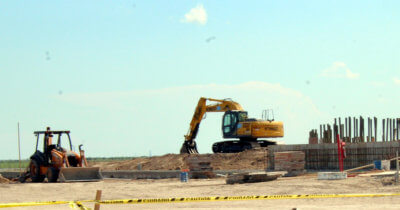 A new ecotourism center is taking shape on Highway 100 near Laguna Vista.