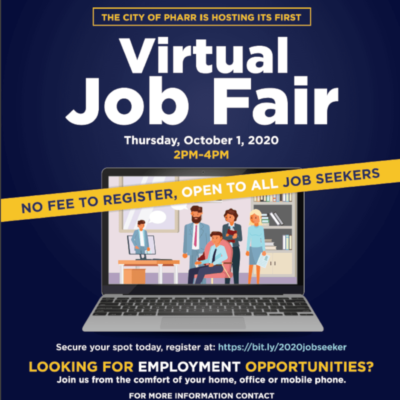 Pharr Virtual Job Fair flyer
