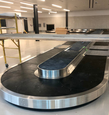 The baggage claim area at the new Brownsville terminal.