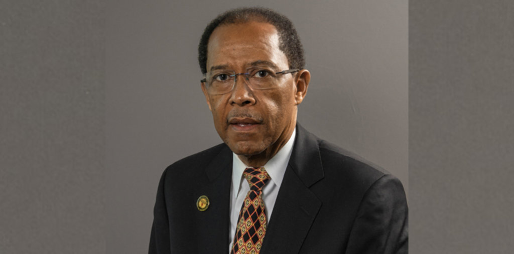 Dr. Lawrence Harkless, interim dean of the UTRGV School of Podiatry. (Jennifer Galindo, UTRGV photo)