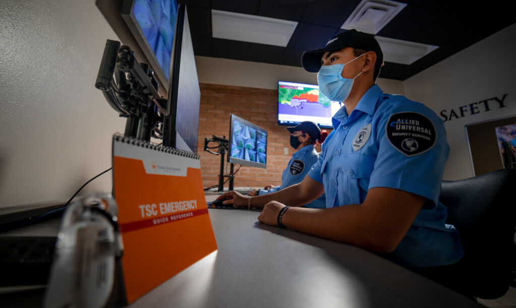 TSC's new Safety and Security Command Center is increasing security presence and partnerships between the college and law enforcement agencies. (photo TSC)