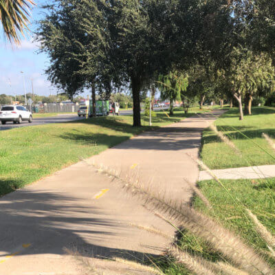 The city of McAllen has hike-and-bike trails throughout the community.