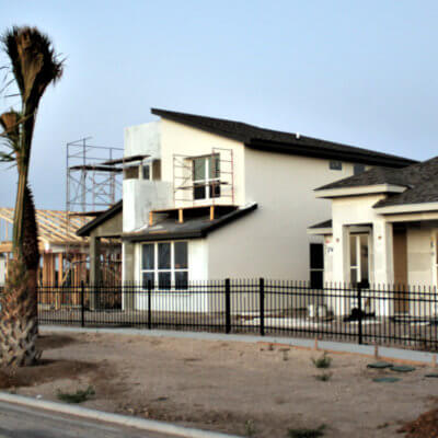 Various elevations demonstrate how future residents of Villas on Freddy can customize their homes. (Courtesy)